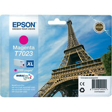 GENUINE EPSON EIFFEL TOWER SERIES MAGENTA HIGH CAPACITY XL INK CARTRIDGE T7023