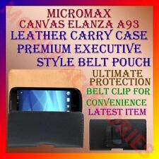 ACM-BELT CASE for MICROMAX CANVAS ELANZA A93 MOBILE LEATHER CARRY POUCH COVER