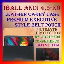 ACM-BELT CASE for IBALL ANDI 4.5 K6 MOBILE LEATHER CARRY POUCH COVER HOLDER NEW