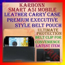 ACM-BELT CASE for KARBONN SMART A5i MOBILE LEATHER CARRY POUCH COVER CLIP HOLDER