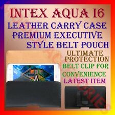 ACM-BELT CASE for INTEX AQUA I6 MOBILE LEATHER CARRY POUCH COVER HOLDER CLIP NEW