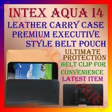 ACM-BELT CASE for INTEX AQUA I4 MOBILE LEATHER CARRY POUCH COVER CLIP HOLDER NEW
