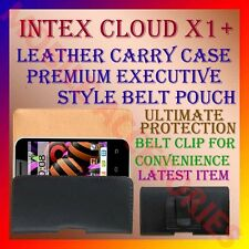 ACM-BELT CASE for INTEX CLOUD X1+ MOBILE LEATHER CARRY POUCH COVER CLIP HOLDER