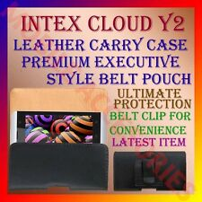 ACM-BELT CASE for INTEX CLOUD Y2 MOBILE LEATHER CARRY POUCH COVER CLIP HOLDER