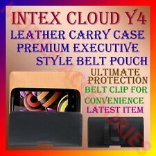 ACM-BELT CASE for INTEX CLOUD Y4 MOBILE LEATHER CARRY POUCH COVER CLIP HOLDER