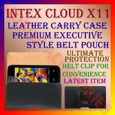 ACM-BELT CASE for INTEX CLOUD X11 MOBILE LEATHER CARRY POUCH COVER CLIP HOLDER