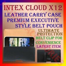 ACM-BELT CASE for INTEX CLOUD X12 MOBILE LEATHER CARRY POUCH COVER CLIP HOLDER