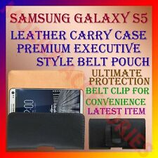 ACM-BELT CASE for SAMSUNG GALAXY S5 MOBILE LEATHER CARRY POUCH COVER CLIP HOLDER