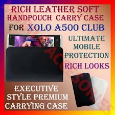 ACM-RICH LEATHER SOFT CARRY CASE for XOLO A500 CLUB MOBILE HANDPOUCH COVER POUCH