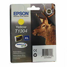GENUINE EPSON STAG SERIES YELLOW HIGH CAPACITY INK CARTRIDGE C13T13044010 T1304