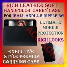 ACM-RICH LEATHER CARRY CASE for IBALL ANDI 4.5 RIPPLE 3G MOBILE HANDPOUCH COVER