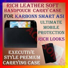 ACM-RICH LEATHER SOFT CARRY CASE for KARBONN SMART A5i MOBILE HANDPOUCH COVER