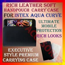 ACM-RICH LEATHER SOFT CARRY CASE for INTEX AQUA CURVE MOBILE HANDPOUCH COVER NEW