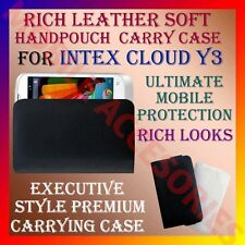 ACM-RICH LEATHER SOFT CARRY CASE for INTEX CLOUD Y3 MOBILE HANDPOUCH COVER CASE