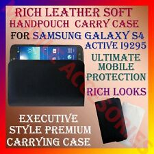 ACM-RICH LEATHER SOFT CARRY CASE for SAMSUNG GALAXY S4 ACTIVE I9295 HANDPOUCH