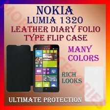 ACM-LEATHER DIARY FOLIO FLIP CASE COVER for NOKIA LUMIA 1320 MOBILE FRONT/BACK