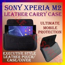 ACM-HORIZONTAL LEATHER CARRY CASE for SONY XPERIA M2 MOBILE POUCH COVER HOLDER