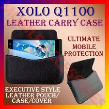 ACM-HORIZONTAL LEATHER CARRY CASE for XOLO Q1100 MOBILE POUCH COVER HOLDER NEW