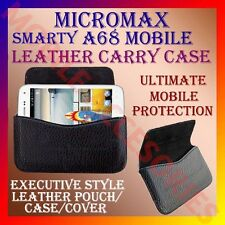 ACM-HORIZONTAL LEATHER CARRY CASE for MICROMAX SMARTY A68 MOBILE POUCH COVER
