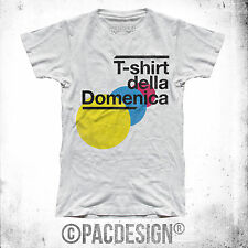 T-SHIRT UOMO T SHIRT DEL GIORNO DOMENICA WEEK IRONIC WHY SO MY HAPPINESS DK