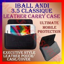 ACM-HORIZONTAL LEATHER CARRY CASE for IBALL ANDI 3.5 CLASSIQUE MOBILE COVER CASE