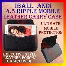 ACM-HORIZONTAL LEATHER CARRY CASE for IBALL ANDI 4.5 RIPPLE MOBILE POUCH COVER