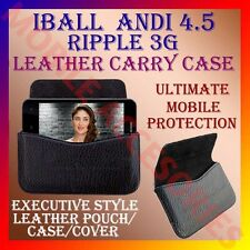 ACM-HORIZONTAL LEATHER CARRY CASE for IBALL ANDI 4.5 RIPPLE 3G MOBILE COVER CASE