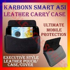 ACM-HORIZONTAL LEATHER CARRY CASE for KARBONN SMART A5i MOBILE RICH POUCH COVER
