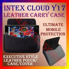 ACM-HORIZONTAL LEATHER CARRY CASE for INTEX CLOUD Y17 MOBILE POUCH COVER HOLDER