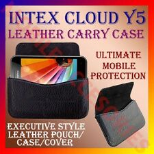 ACM-HORIZONTAL LEATHER CARRY CASE for INTEX CLOUD Y5 MOBILE POUCH COVER HOLDER