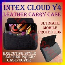 ACM-HORIZONTAL LEATHER CARRY CASE for INTEX CLOUD Y4 MOBILE POUCH COVER HOLDER