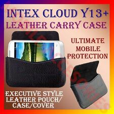 ACM-HORIZONTAL LEATHER CARRY CASE for INTEX CLOUD Y13+ MOBILE POUCH COVER HOLDER
