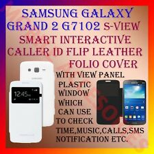 ACM-S-VIEW INTERACTIVE LEATHER FLIP CALLER ID CASE for SAMSUNG GRAND 2 G7102 NEW