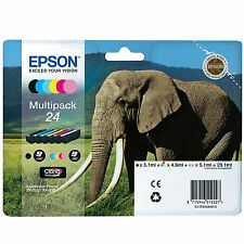 GENUINE EPSON ELEPHANT SERIES (EPSON 24) 6 INK CARTRIDGE MULTIPACK C13T24284010