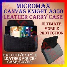 ACM-HORIZONTAL LEATHER CARRY CASE for MICROMAX KNIGHT A350 MOBILE POUCH COVER