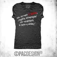 T-SHIRT DONNA LOVE VOCABOLARIO IRONIC AMORE WHY SO HAPPINESS BLACK NE0055A