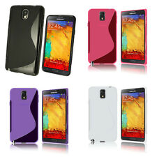 SAMSUNG GALAXY NOTE 3 N9000 S-LINE SILICONE GEL COVER CASE AND SCREEN PROTECTOR
