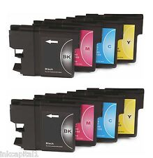 8 x Ink Cartridges ( 2 Sets ) Compatible With Brother LC127XL, LC125XL-B,C,M & Y