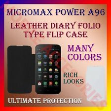 ACM-LEATHER DIARY FOLIO FLIP FLAP CASE for MICROMAX POWER A96 FRONT/BACK COVER