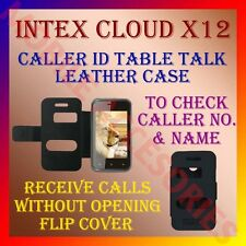 ACM-CALLER ID TABLE TALK CASE for INTEX CLOUD X12 MOBILE FLIP FRONT/BACK COVER