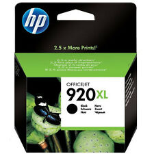GENUINE OEM HP OFFICEJET HIGH CAPACITY BLACK INK CARTRIDGE HP 920XL (CD975AE)