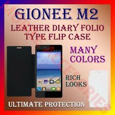 ACM-LEATHER DIARY FOLIO FLIP FLAP CASE for GIONEE M2 MOBILE FRONT & BACK COVER