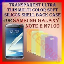 ACM-TRANSPARENT ULTRA THIN COLOR SILICON for SAMSUNG NOTE 2 II N7100 BACK COVER