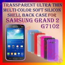 ACM-TRANSPARENT ULTRA THIN COLOR SILICON for SAMSUNG GRAND 2 G7102 BACK COVER
