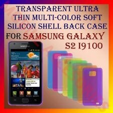ACM-TRANSPARENT ULTRA THIN COLOR SILICON for SAMSUNG S2 i9100 SII BACK COVER NEW