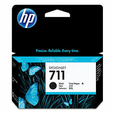 GENUINE OEM HP HEWLETT PACKARD DESIGNJET BLACK INK CARTRIDGE - HP 711 / CZ129A