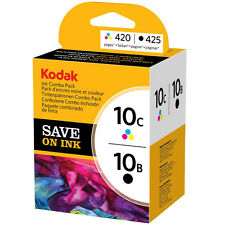 GENUINE KODAK 10 - 10B BLACK & 10CL COLOUR PRINTER INK CARTRIDGE MULTIPACK