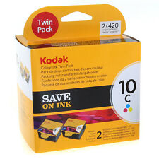 GENUINE ORIGINAL KODAK 10 COLOUR INK CARTRIDGE TWIN VALUE PACK - AMAZING VALUE