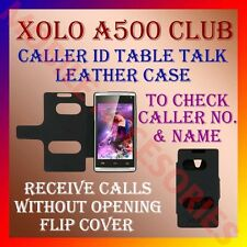 ACM-CALLER ID TABLE TALK CASE for XOLO A500 CLUB MOBILE FLIP LEATHER CARRY COVER