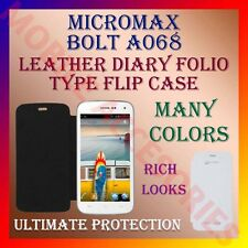 ACM-LEATHER DIARY FOLIO FLIP FLAP CASE for MICROMAX BOLT A068 MOBILE FULL COVER